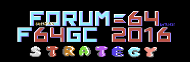 Forum64 Game Competition 2016: Strategy