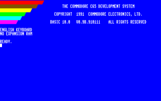 GO65 - C65 Startup-Screen on C128 (80 column mode)