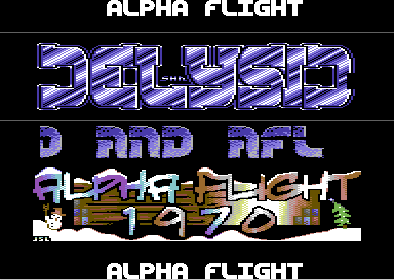 Xmas Alpha Flight on Delysid