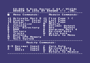 EX-DOS & Disk Doctor C64 / VC1541