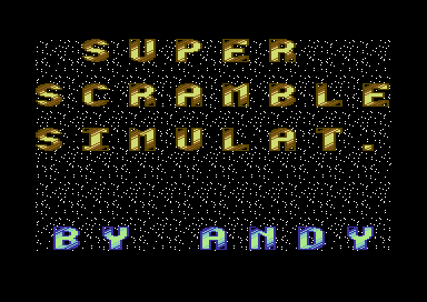Super Scramble Simulator +D