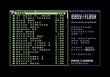 The Commodore 64 Scene Database|EF C64GS Collection 200-1 Bugfix [easyflash]