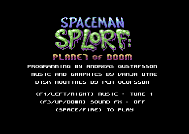 Spaceman Splorf: Planet of Doom V1.1