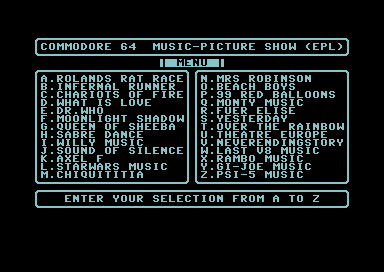 Commodore 64 Music-Picture Show