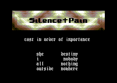 Silence and Pain