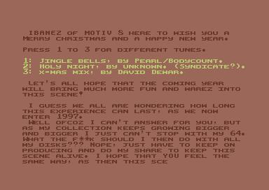 CSDb] - X-Mas Ripp by Motiv 8 (1996)