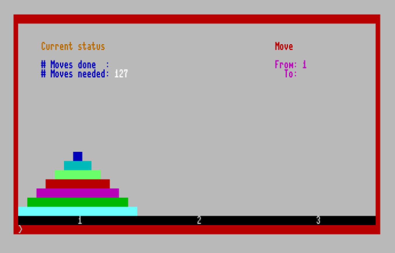 Towers of Hanoi for CP/M
