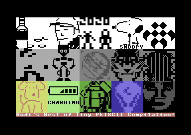 Rudi's Best of Tiny PETSCII Compilation