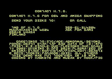 CSDb] - Contact HTG by Hacker Trick Group (1988)