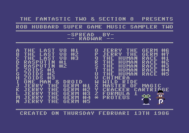 Rob Hubbard Super Game Music Sampler Two