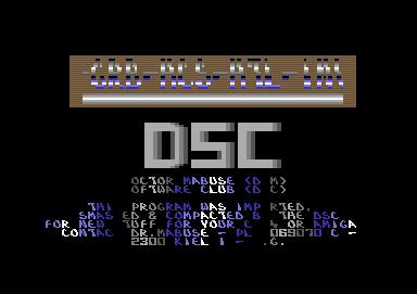 Danish Gold. C64 Crack. Reflex Cracking Squad. DRM Software Club