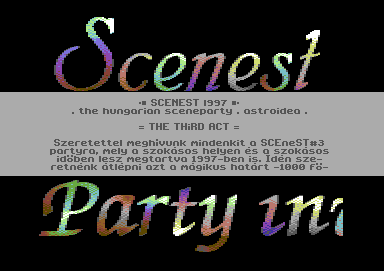 Scenest 97 Party Invitation [hungarian]